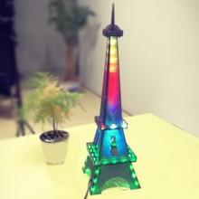 LEORY Eiffel Tower DIY 3D LED Light Cube Kit 5V LED Music Spectrum DIY Electronic Kit For DAC MP3 For DIY Welding Enthusiast