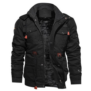 Image 2 - 2020 New Arrival Mens Winter Fleece Jackets Warm Hooded Coat Thermal Thick Outerwear Male Military Jacket Mens Brand Clothing