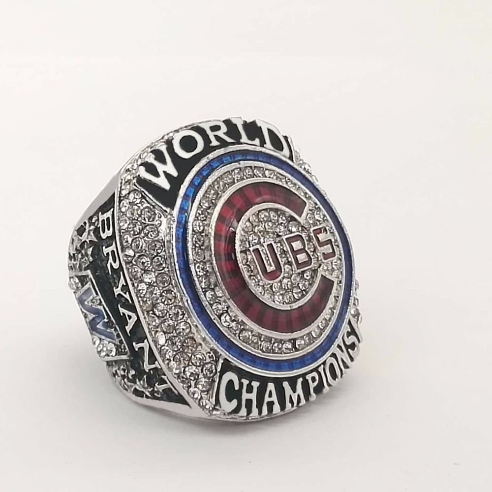 Wholesale Good Quality 2016 Chicago Cubs World Series Championship Ring MVP BRYANT Solid Size 6 15