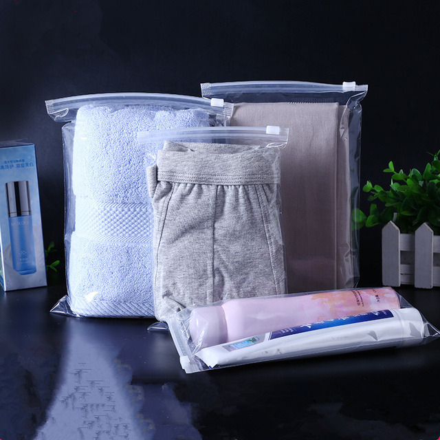 Women Plastic Storage Bag for Travel Make Up Baggage Bag Transparent Shoes Bag for Cloth Bag Zip Lock Storage Organizer Pouch