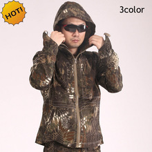 Winter ESDY Commando Soldiers 3D Python Texture Camouflage Combat Hoodies Waterproof Quick-drying UV Tactical Jacket Men 3color