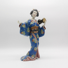 Laddy Sculptures Collectibles Ceramic Japanes Geisha Female Statues Glazed Dolls Figurine Christmas Gifts Kimono Home Decor Art
