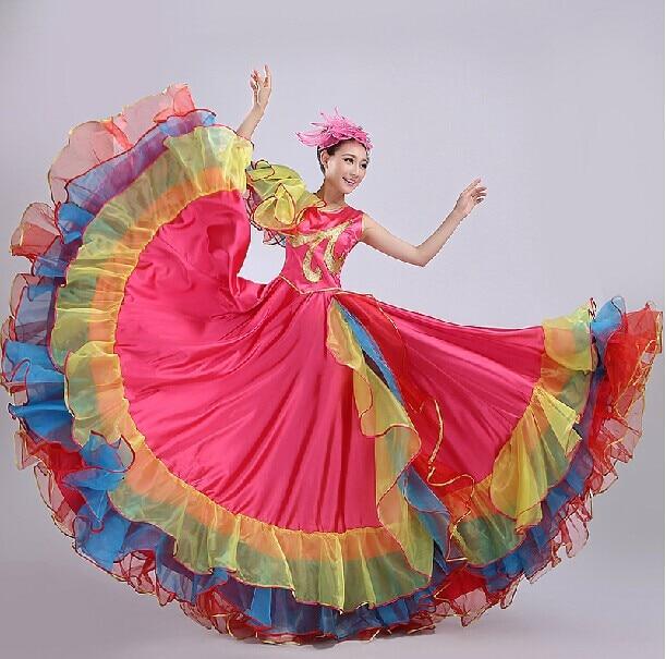Церемония большие качели юбка атмосферу испанский большой юбка коррида большой платье юбка Square Dance платье для сцены