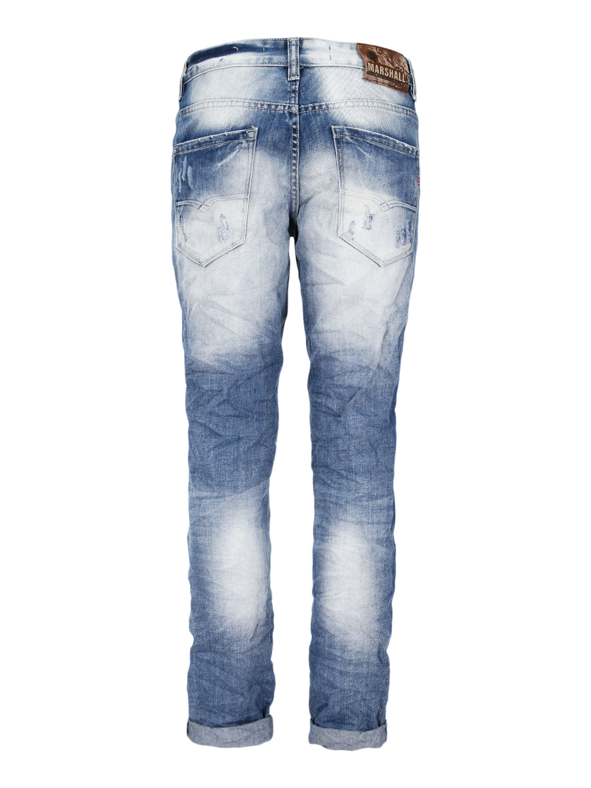 Jeans Worn Effect With Tear
