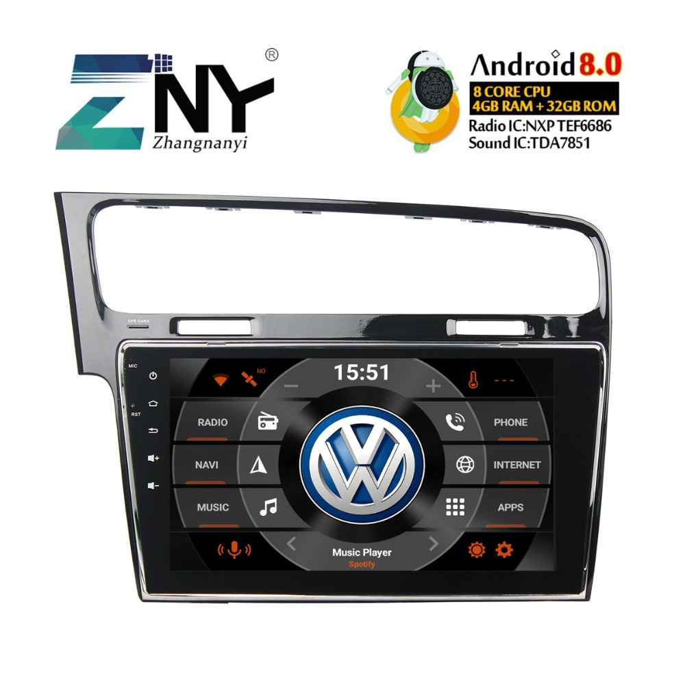 10 1 ips android 8 0 car stereo gps radio for vw golf 7. Black Bedroom Furniture Sets. Home Design Ideas