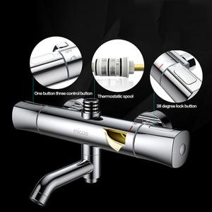 Image 3 - MICOE shower set thermostatic shower mixer Chrome faucet body copper casting faucet 5 mode nozzle