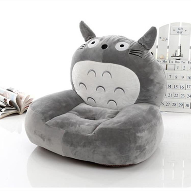 Peluche grise totoro canapé jouet peluche dessin animé totoro design siège de sol tatami environ 50x45 cm s1962