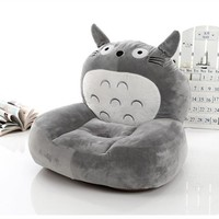 gray plush totoro sofa toy stuffed cartoon totoro design floor seat tatami about 50x45cm s1962