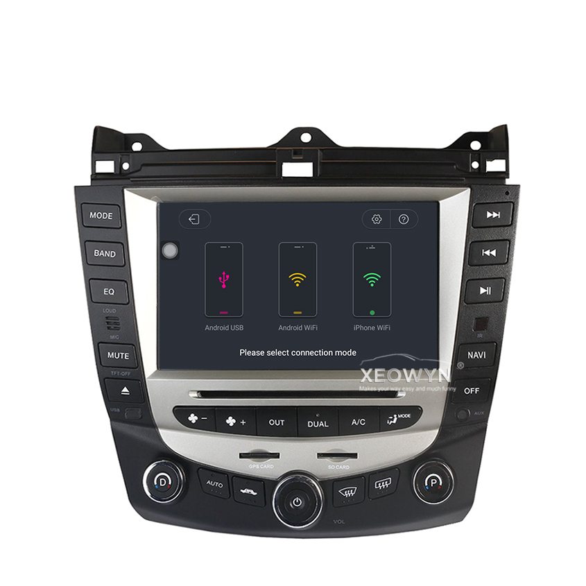 Discount Car Radio Multimedia Android 8.0 for Honda Accord 7 2003-2007 car dvd audio stereo player gps Navigation wifi RDS 2din 3