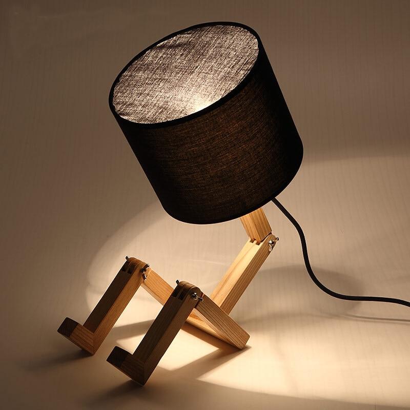 Loft Robot Fold Industrial Table Light Edison Desk Wood Man Lamp Cafe  Club In Desk Lamps From Lights U0026 Lighting On Aliexpress.com | Alibaba Group