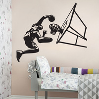 4018 Perfect Design to basketball lover Basketball Sport Removable Wall Art Decal Vinyl Sticker Excellent Quality