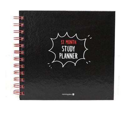 Pure color coil study book 120 months study planner 17.7*16.5cm DIY agenda 80P fx18 80p 0 8sv