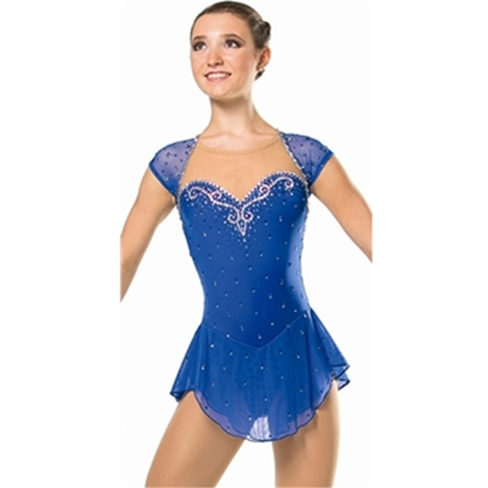 2016 Hot Sales Figure Ice Skating Dresses For Girls With Spandex New Brand Figure Skating Competition Dress DR2552