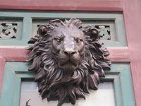 Медь латунь Craft Запад Книги по искусству чистый бронзовая скульптура резьба ожесточенное, голова льва фигурка