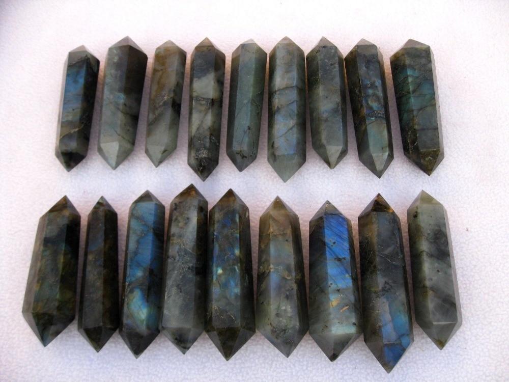 18ธรรมชาติลาบควอตซ์คริสตัลคู่pointรักษา-ใน หิน จาก บ้านและสวน บน AliExpress - 11.11_สิบเอ็ด สิบเอ็ดวันคนโสด 1