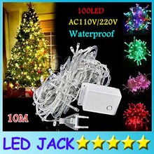 10M 33FT 100led Fairyled holiday Led String Light Christmas light waterproof Wedding Party Xmas Decoration White Red Blue Green