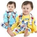 Anlencool 2017 Бесплатная доставка Новая Коллекция Весна и Осень отдых костюм представляют милый ребенок костюм детская одежда новорожденный одежда набор