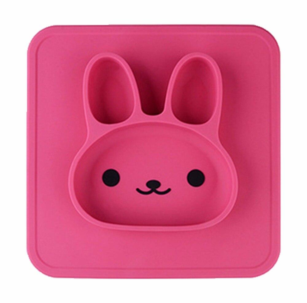 Baby Dinner Mat Kids Cartoon Rabbit Shaped Plate Table Mat Set Home Kitchen Mats & Pads for training