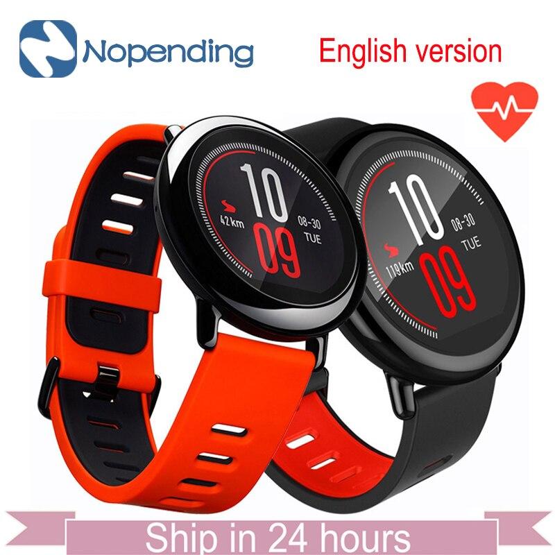 Prix pour Xiaomi huami amazfit smartwatch gps amazfit sport smart watch bluetooth wifi double 512 mb/4 gb moniteur de fréquence cardiaque pour ios anglais