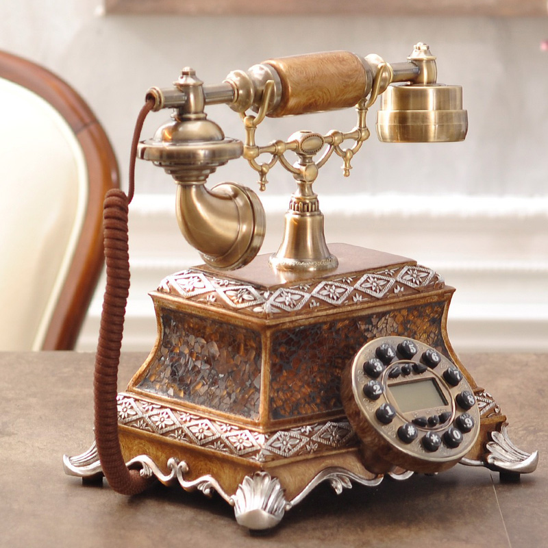 Fashion rotary telephone, antique European style retro telephone, high grade home phone, office telephone