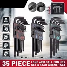 2020 SEDY 35Pcs Lange Arm Ball Wrench Set End Hex Schlüssel Allen Wrench Set Universal Schlüssel Set Zoll Metric Mit fahrrad Reparatur Werkzeug Set