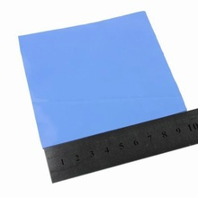 2 Pcs 100mm * 100mm * 5mm Blue IC Chip Conduction Heatsink Thermal Pad Compounds Silicone Pads