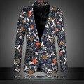 Плюс Размер 6XL Мужская Цветочный Блейзер дизайнер Одежда Мужчины Повседневная Slim Fit Мужская Blazer Куртка Печатных Цветочные Блейзер Terno Masculino