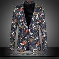 6XL Plus Size Mens Floral Blazer Roupas de grife Homens Casuais Mens Slim Fit Jaqueta Blazer Floral Impresso Blazer Terno Masculino