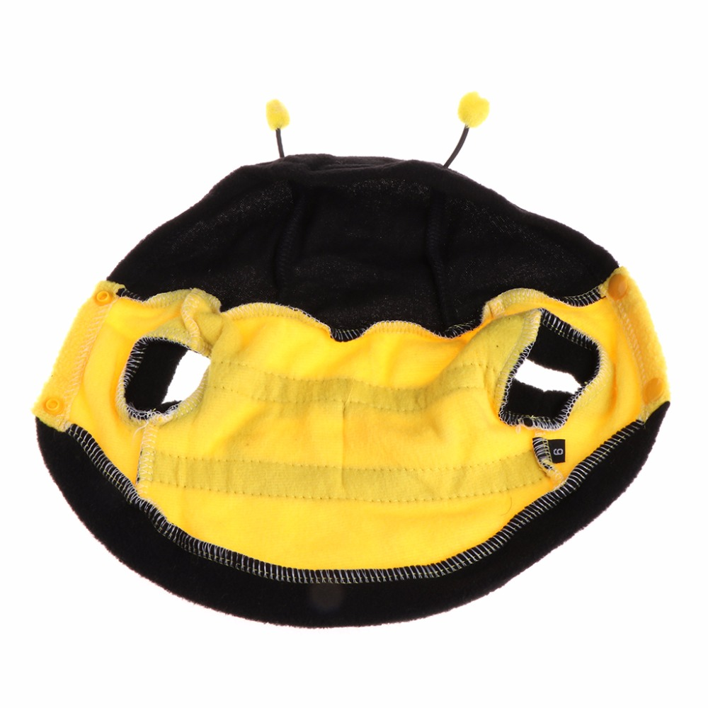 1 шт. милые домашние одежда костюм пчелы мягкая теплая одежда пальто с капюшоном для собаки щенок кошка платье осень/зима pet Интимные аксессу...