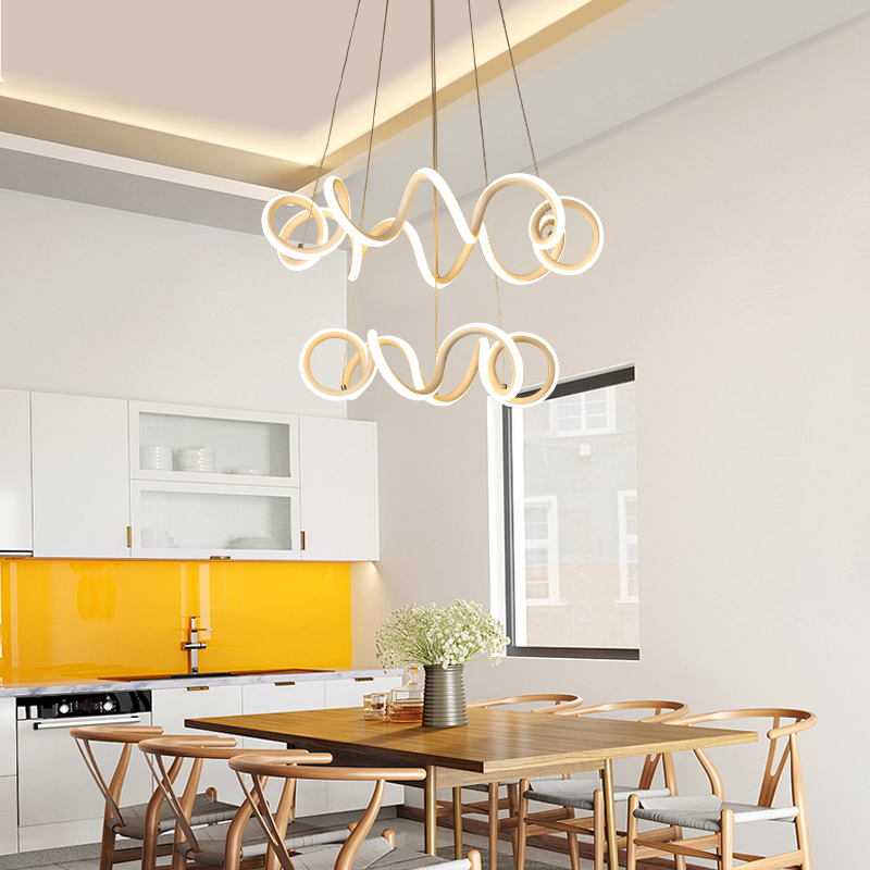 Modern Dinning Room LED Round Pendant Lighting LED Oval
