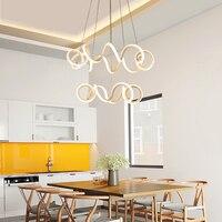 Modern Dinning Room LED Round Pendant Lighting LED Oval Hanging Lamp Luxury Acrylic Kitchen Pendant Lamp
