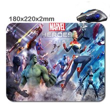 Heroes Marvel 180X220X2cm Rubber Gaming Mouse Mat Can Be Used Tablet Usb Micro Sd Laptop Mini Pc Keyboard