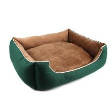 Мягкие кровати для собак теплый флисовый диван для отдыха маленький средний большой собаки золотой ретривер кровать Хаски питомник товары для домашних животных Размер S до XL