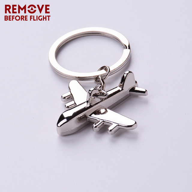 Remove Before Flight Metal Key Chains Mens Key Ring Chain for Aviation Gifts Airworthy Creative Plane