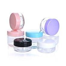 10Pcs 15g 20g Portable Empty Cosmetic Container Plastic Jar Pot Makeup Travel Face Cream Lotion Refillable Storage Bottle Box