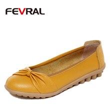 FEVRAL zapatos planos de bailarina para mujer, mocasines de piel auténtica sin cordones, Oxford, primavera y verano, 2021
