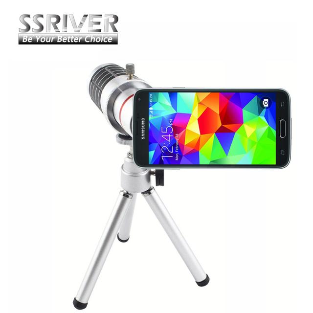 Ssriver para samsung galaxy s5 i9600 16x zoom lente gopro lente Telescópio Camera Lens Kit Tripé + Case Voltar lente Do Smartphone Para S5