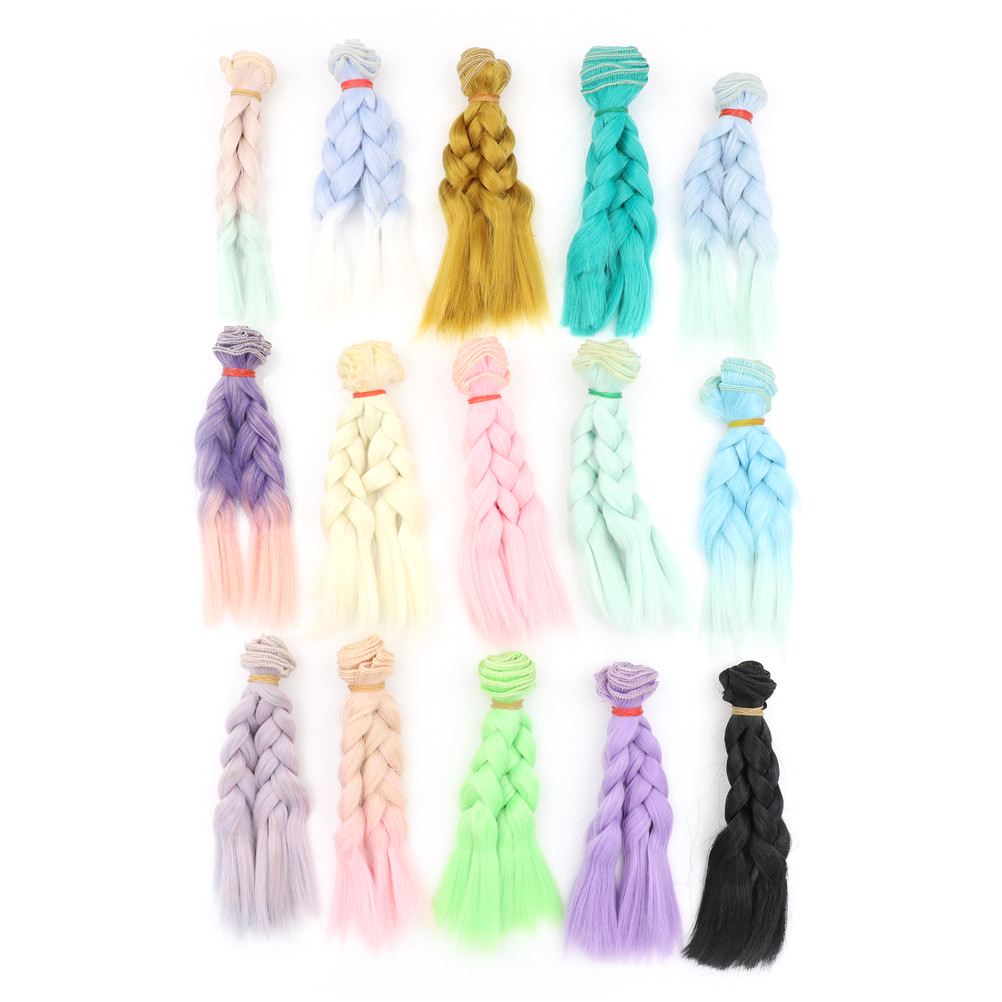 1pc 15cm 100CM Doll Wigs hair Braid Hairstyle DIY Wigs For 1 3 1 4 1