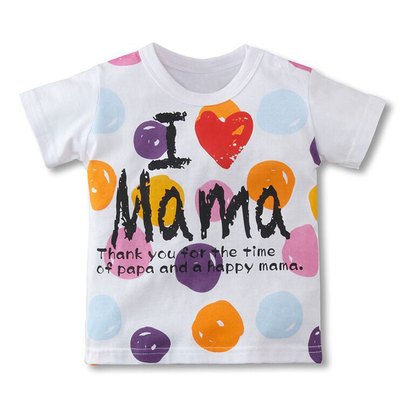 Wholesale Children's Clothing Boys Girls T-shirts Creative Summer Casual Tops Tees Cartoon Cotton Kids Baby Clothes