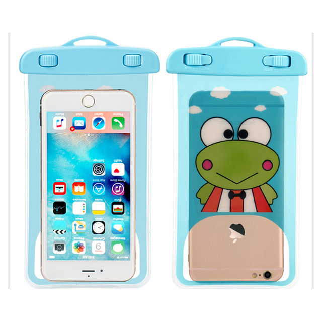 size 40 15a26 145c3 US $1.99 |Cartoon Frog Cute Waterproof Pouch Universal Phone Bags with  Lanyard Swimming Case for IPhone 6 6S 7 Plus Below 5.8 Inch-in Phone Pouch  from ...