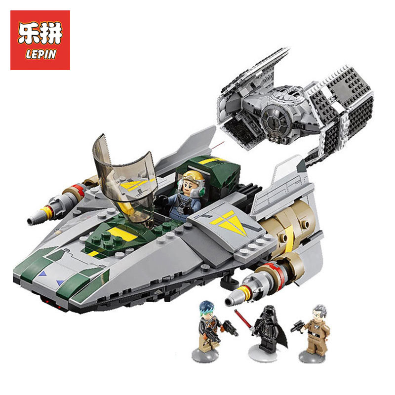 Lepin 05030 722Pcs Star Wars Vader Tie Advanced VS A wing Starfighter LegoINGlys 75150 Building Blocks Bricks children toys