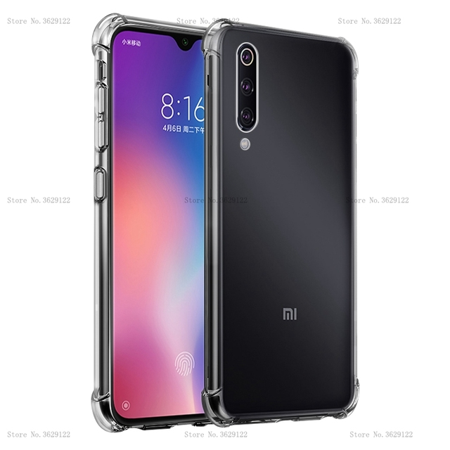Silicone Transparent Phone Case For Xiaomi Mi 9 8 SE 6 Mi A2 Lite A1 6X Mi Mix 3 2S Play Max 3 Mi9 Cover Anti-knock Clear Coque
