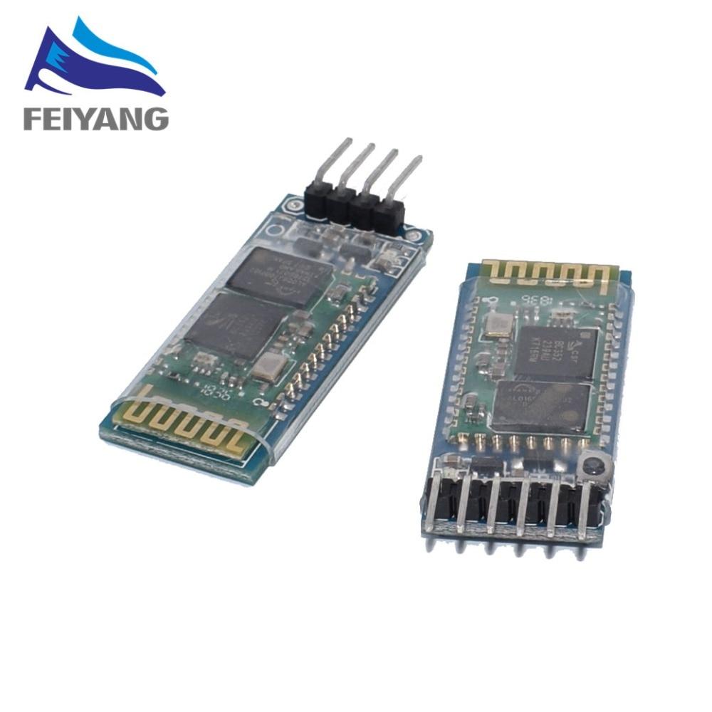 HC-05 HC-06 MASTER-SLAVE 6pin//4pin modulo Bluetooth integrato Arduino