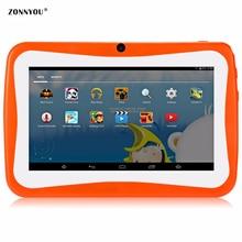 7 Детский планшет PC 4 ядра 512 + 8 GB Android4.4 Wi-Fi планшет детские игры предназначен для детей с подарочной коробке