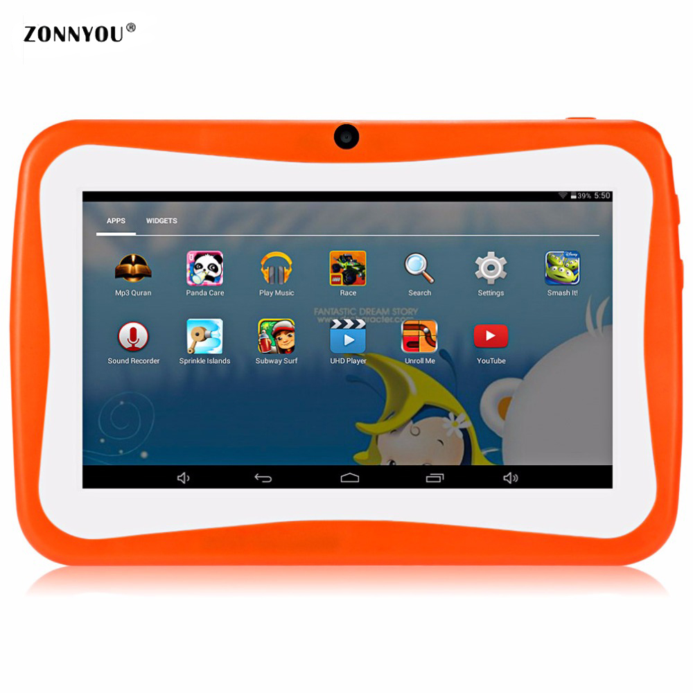 7 inch Kids Tablet PC Quad Core 512MB+8GB Android4.4 Wi Fi Tablet Baby Games Designed for Children with Gift Box