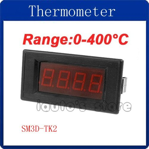 Red LED Display 0-400 Degree Celsius K Type Thermometer Panel Temperature Meter