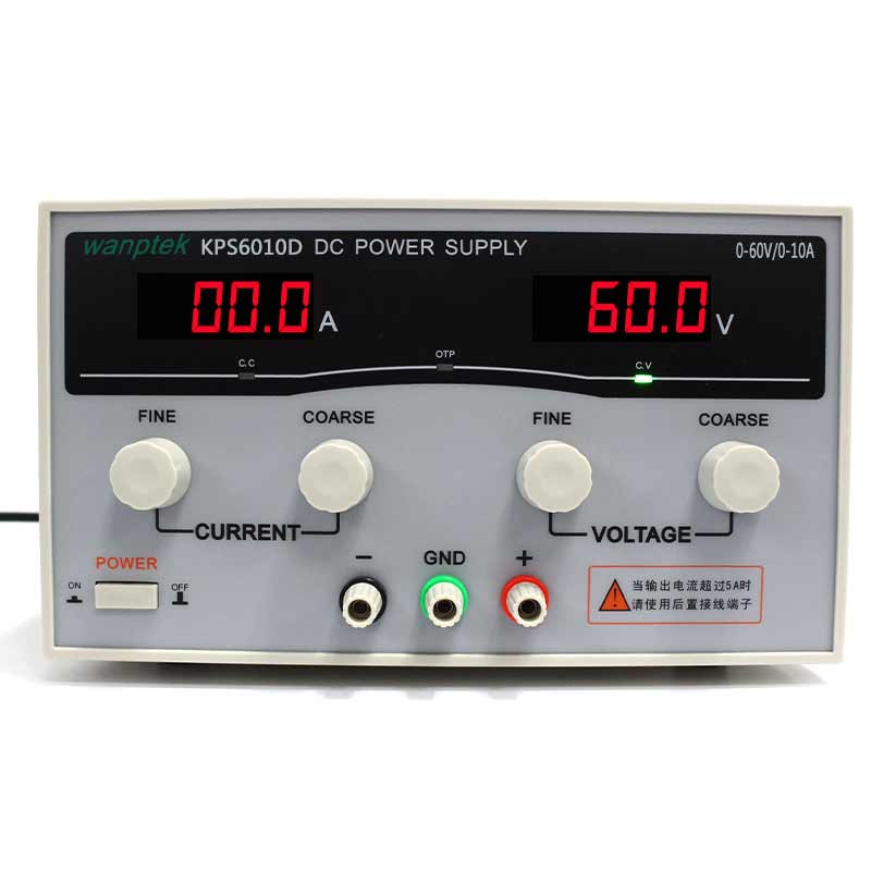 High quality Wanptek KPS6010D High precision Adjustable Display DC power supply 0-60V 0-10A High Power Switching power supply rps6005c 2 dc power supply 4 digital display high precision dc voltage supply 60v 5a linear power supply maintenance