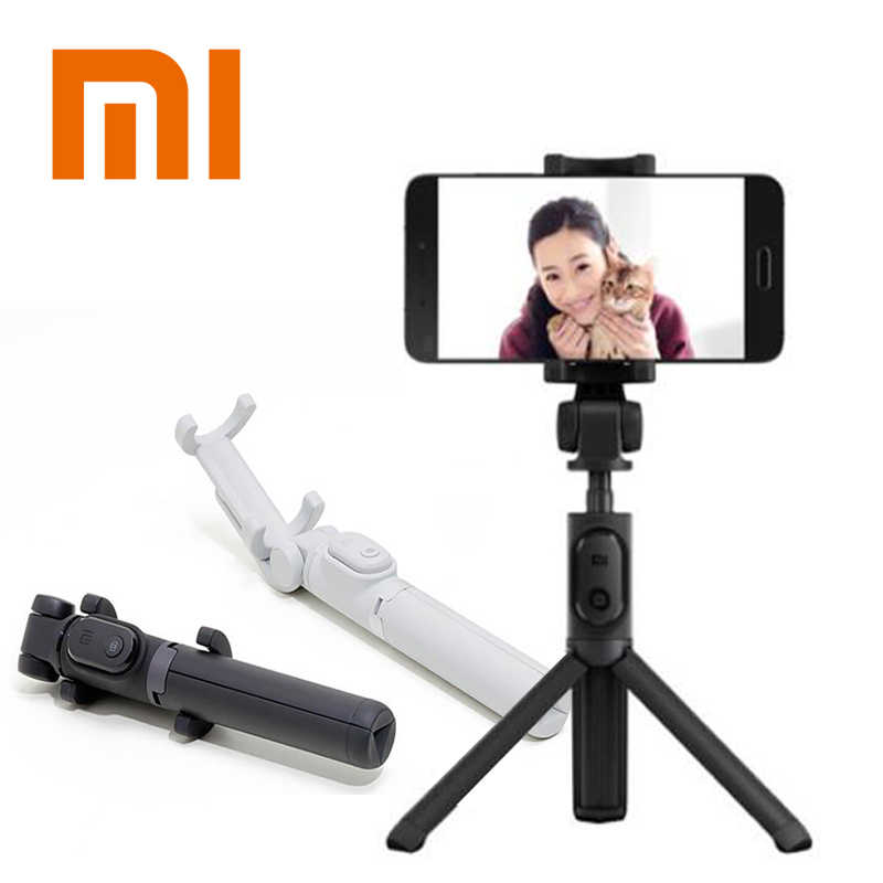 Asli Xiao Mi Mi Selfie Stick Tripod Bluetooth Nirkabel Self Timer dengan Wireless Remote Lipat Self-Stick untuk iPhone X XR