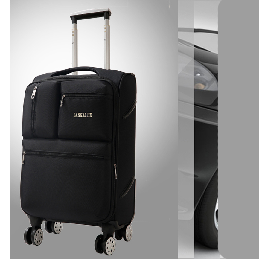 Letrend Spinner Rolling Luggage Men Travel Bag Women Suitcases Wheel Trolley 20 inch Business Carry On Password Trunk