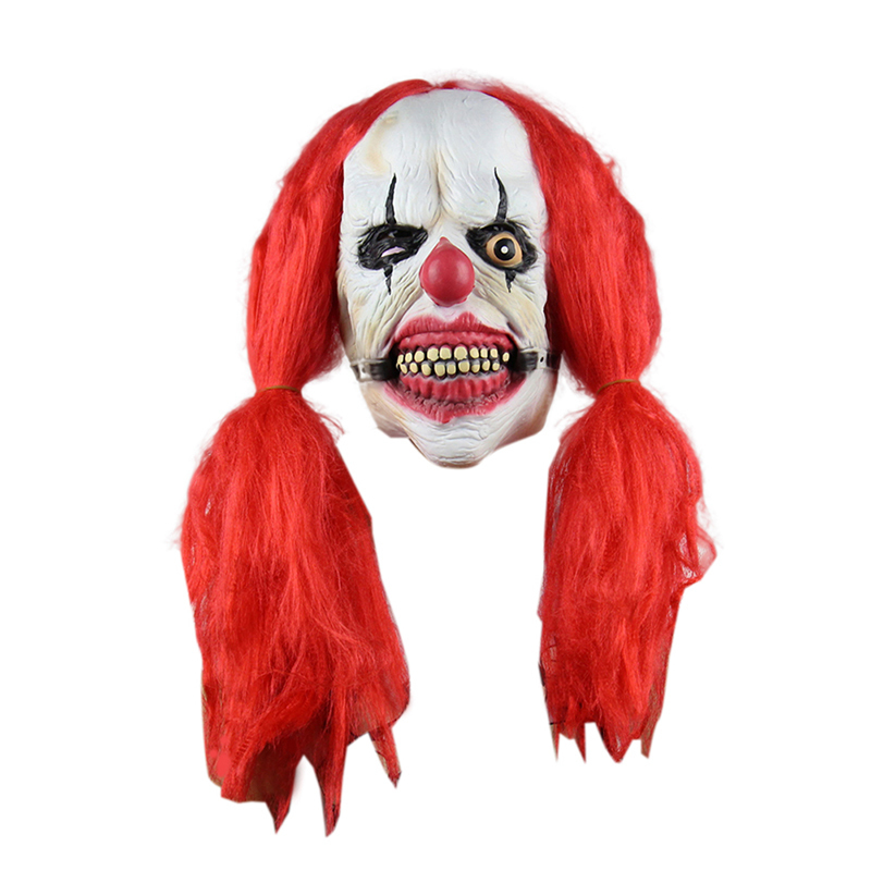 Creepy Latex Party Mask Joker Evil Ghost Scary Halloween Clown Costume Adult Size Horror Festive Party Supplies -in Party Masks from Home u0026 Garden on ...  sc 1 st  AliExpress.com & Creepy Latex Party Mask Joker Evil Ghost Scary Halloween Clown ...